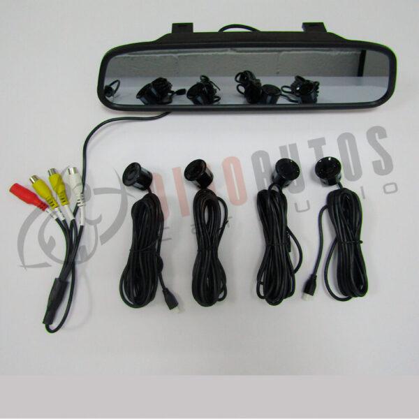KIT DISPLAY 5 Sensores Camara LED Retrovisor