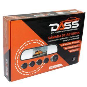 Kit: Cámara + Retrovisor + Sensores DASS DRCS-43