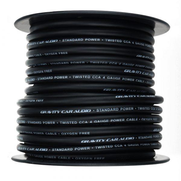 rollo de cable calibre 4 negro