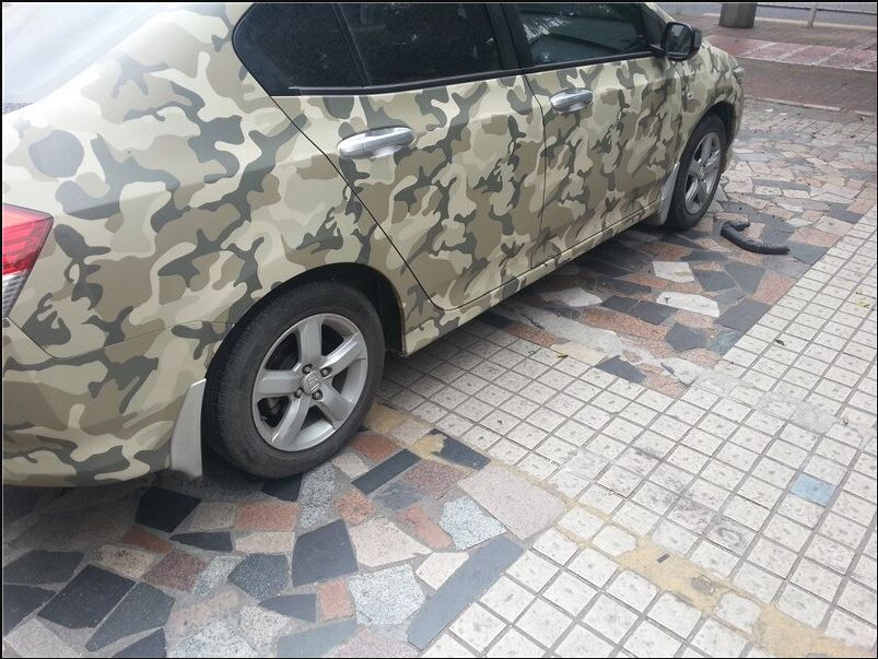 Vinilo camuflaje para carro